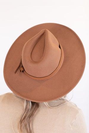 sku16931 | Wide Brim Belted Fedora Hat