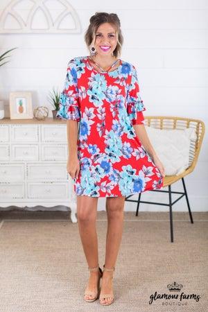 sku14115 | Floral Print Dress