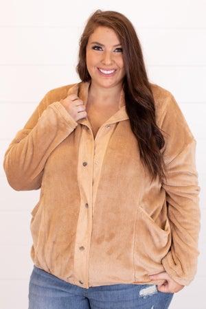 sku16898 | Faux Fur Snap Up Jacket