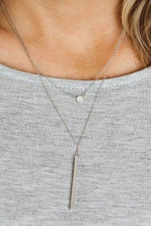 sku18600 | Layered Bar Pendant Necklace