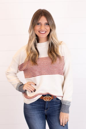 sku16754 | Mixed Striped Sweater