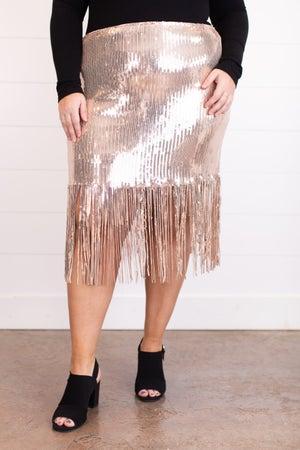sku15715 | Sequin Fringe Skirt