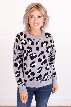 sku16055 | Animal Print Sweater