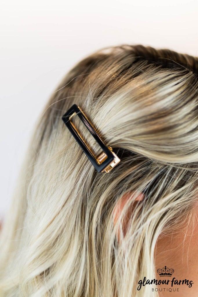 sku8546 | Square Tortoiseshell Hair Clip