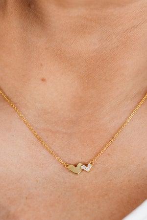 sku18753 | CZ Double Heart Necklace