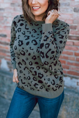 sku17416 | Animal Print Raglan Pullover
