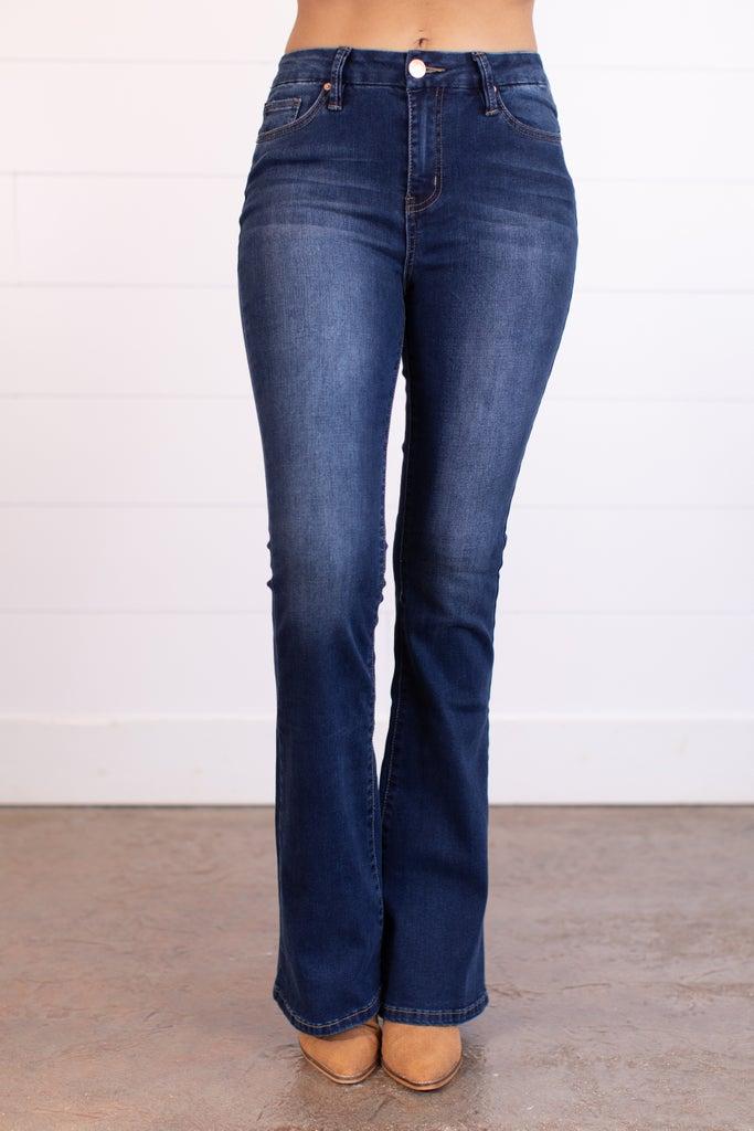sku17514   Hi-Rise Flared Jeans
