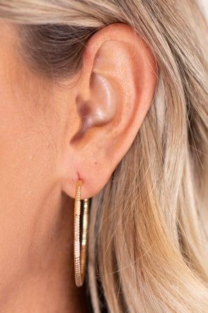 sku17258 | Textured Hoop Earrings