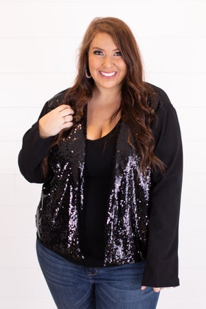 sku16902 | Sequined Crepe Blazer