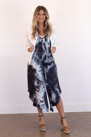 sku15655 | Tie Dye Pocket Jumpsuit
