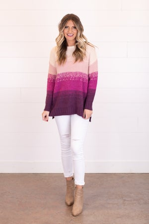 sku17600 | Ombre Knit Sweater
