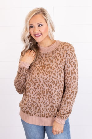 sku17227   Animal Print Sweater