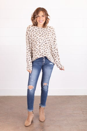 sku17541 | Pieced Animal Print Tunic