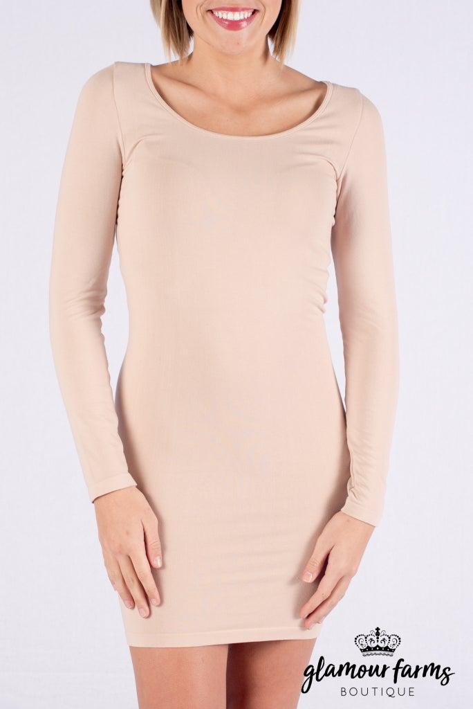 sku008m | Ahh-mazing Long Sleeve Dress Shaper