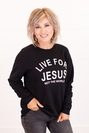 sku16638 | Live For Jesus Graphic Sweatshirt
