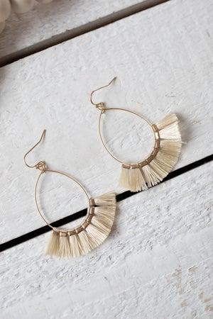 sku19061 | Teardrop Tassel Earrings