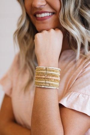sku19636   Multi Beaded Layered Bracelet