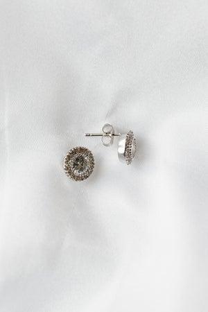 sku18742 | CZ Halo Earrings