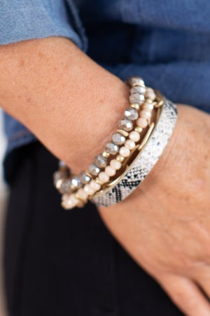 sku15786 | Bead And Chain Stackable Bracelet Set