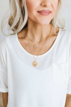 sku17315 | Vintage Coin Layered Necklace
