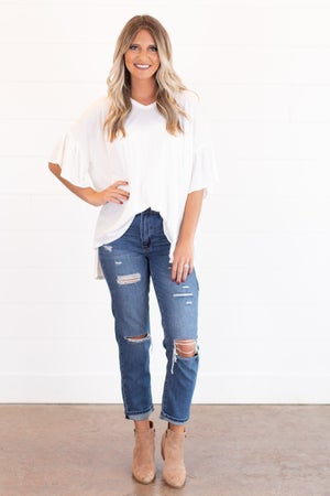 sku15904 | Distressed Tomgirl Jeans