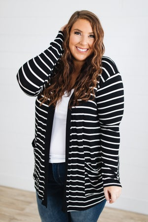 sku18482 | **Daily Deal** Striped Two Pocket Cardigan