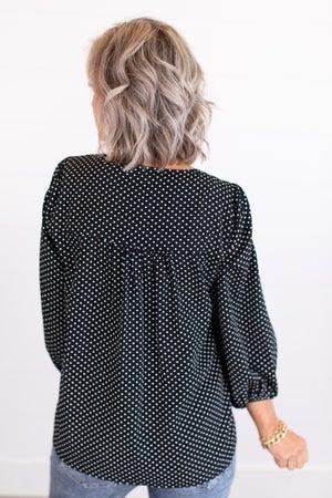 sku17627   Embroidered Polka Dot Top