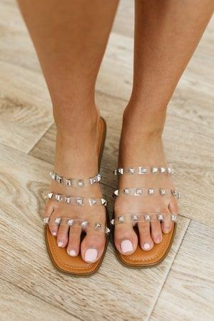 sku20511 | Empress Lucite Studded Sandal
