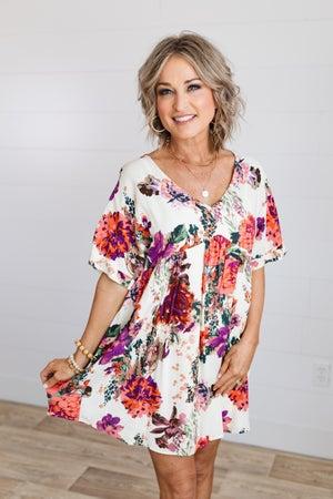 sku13879   Floral Babydoll Dress