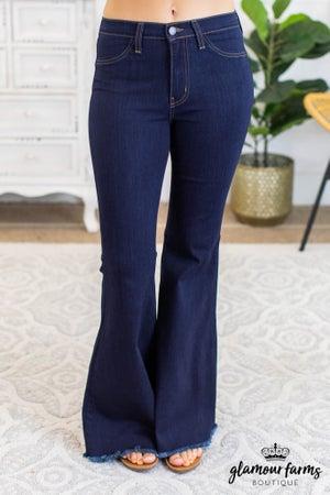sku11726 | Frayed Hem Super Flare Jean
