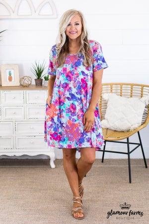 sku12401 | Floral Pocket Dress