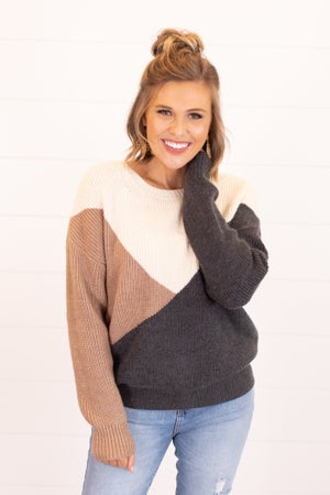 sku16520   Color Block Knit Sweater