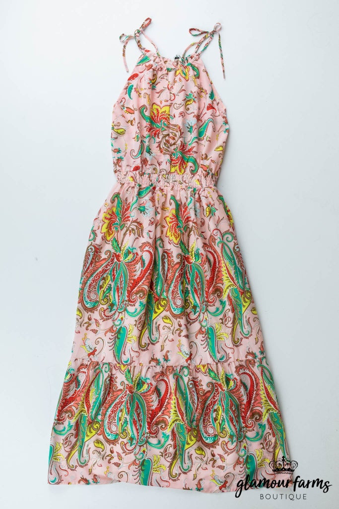 sku13114 | Floral And Paisley Maxi Dress