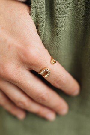 sku20370 | Open Safety Pin Ring