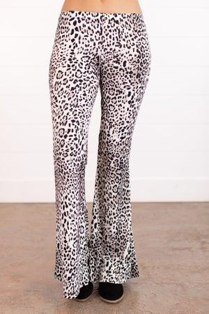 sku16110   Animal Print Flared Pants