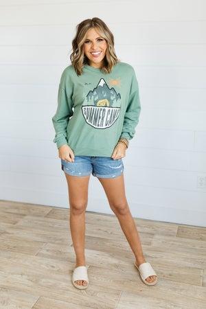 sku21067 | Summer Camp Graphic Sweatshirt