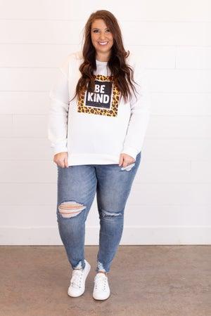 sku17423 | **DOORBUSTERS** Be Kind Graphic Sweatshirt