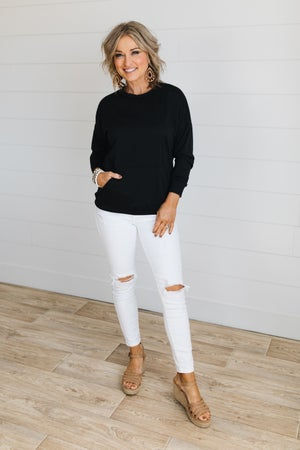 sku19369 | **Daily Deal** Front Pouch Pocket Sweatshirt