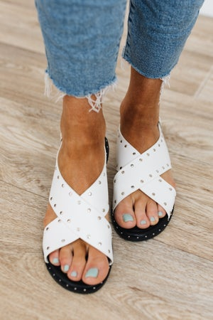 sku18737   Studded Crossover Sandal