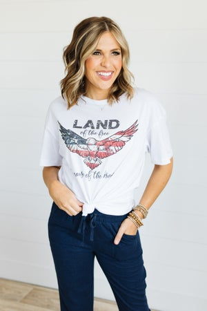 sku21080 | Land Of The Free Graphic Tee
