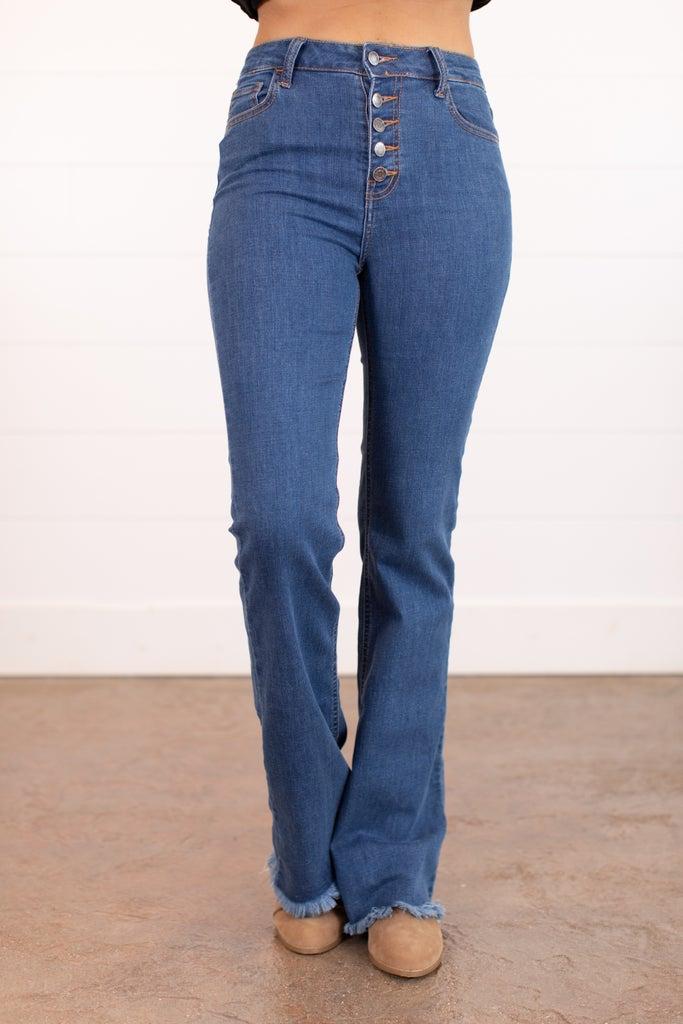 sku16066   High Rise Flared Jeans