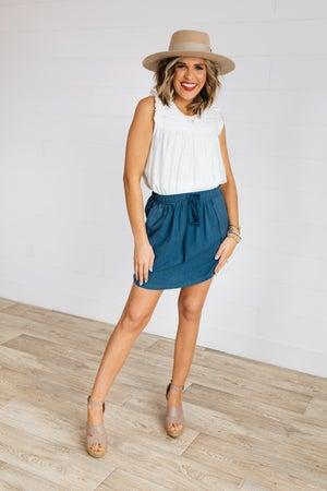 sku19012 | Linen Drawstring Skirt