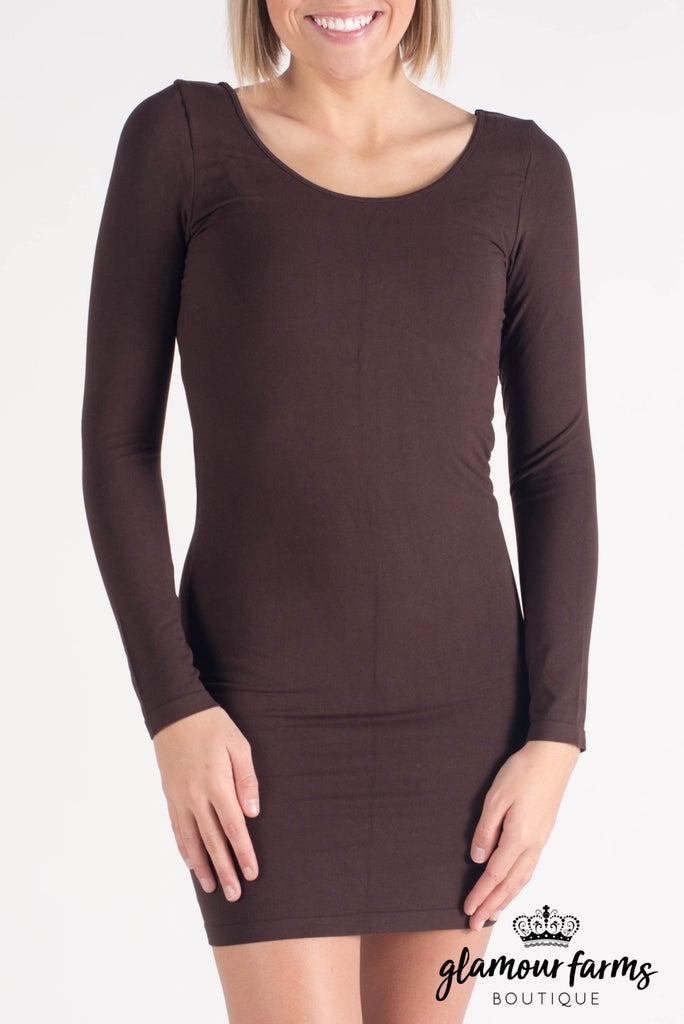 sku008m   Ahh-mazing Long Sleeve Dress Shaper