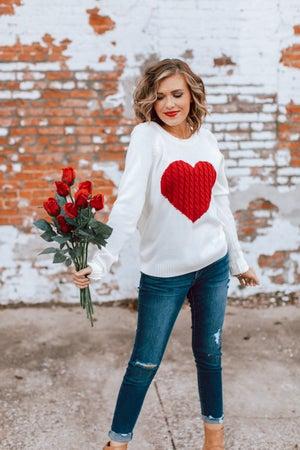 sku16521 | Heart Knit Sweater