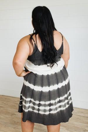 sku20850 | Linen Tie Dyed Cami Dress