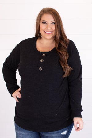sku14661 | Heathered Knit Henley Top