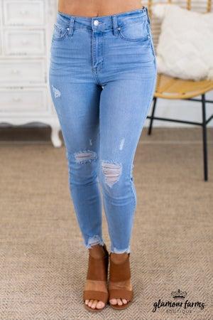 sku14103 | Distressed Skinny Jean