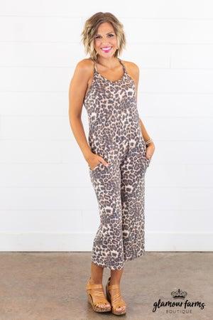 sku14811 | Animal Print Cami Jumpsuit