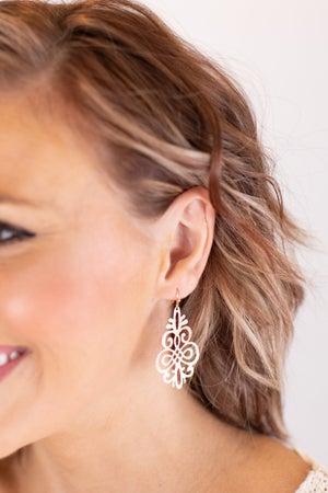 sku17057 | Laser Cut Filigree Earrings
