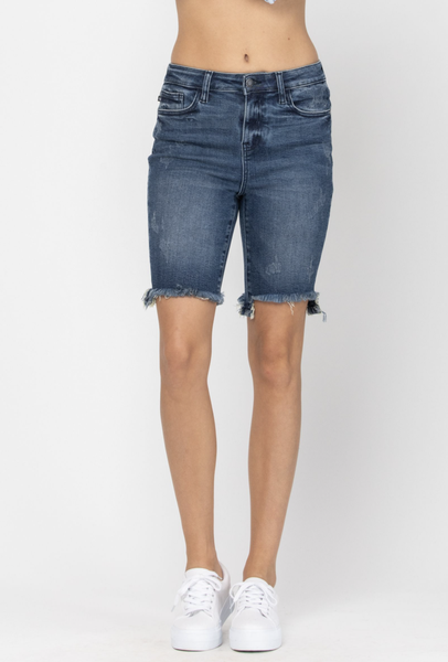 Judy Blue High Rise Cut Off Bermuda Shorts